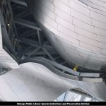 Jay Pritzker Pavilion, headdress, March 4, 2004; photo courtesy of U.S. Equities Realty and the men and women who built Millennium Park