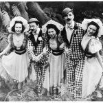 5 teenagers in costume
