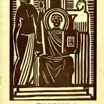 Ethiopia Appeals for Justice block print; Negro History Week beginning February 9, 1936
