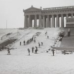 Winter wonderland, Soldier Field, 1957-1958. Source: Chicago Park District: Photographs, 009_002_002