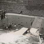 Ski slide, Soldier Field, 1954 September. Source: Chicago Park District: Photographs, 009_002_003