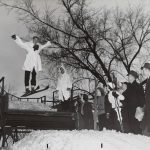Ski slide, Riis Park, 1940 January 11. Source: Chicago Park District: Photographs, 093_027_004