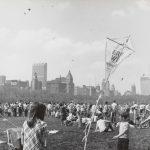 Kite flying, Grant Park, 1970. Source: Chicago Park District Photographs, 031_022_016