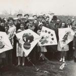 Kite tournament contestants, circa 1930. Source: Chicago Park District Photographs, 110_026_001