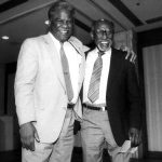 Timuel Black Jr. and Harold Washington, 1983 (Source: Harsh Research Collection, Timuel D. Black Jr. Papers, Photo 118)