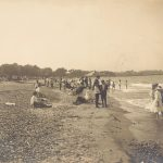 Beachgoers, Jackson Park, circa 1910. Photograph by: George R. Lawrence Company. Source: Chicago Park District Photographs, 047_001_006
