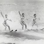Water skiers, Leone Park Beach, 1975. Source: Chicago Park District Photographs, 053_039_004