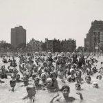 Swimmers, Oak Street Beach, Lincoln Park, 1938. Source: Chicago Park District Photographs, 071_012_015