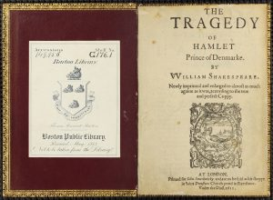 Barton copy of the third quarto of Hamlet, published in 1611 (G.176.1)