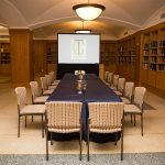 McKim Conference Room with a long rectangular table setup