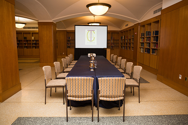 Meeting Spaces Boston Public Library - Conference room table set up