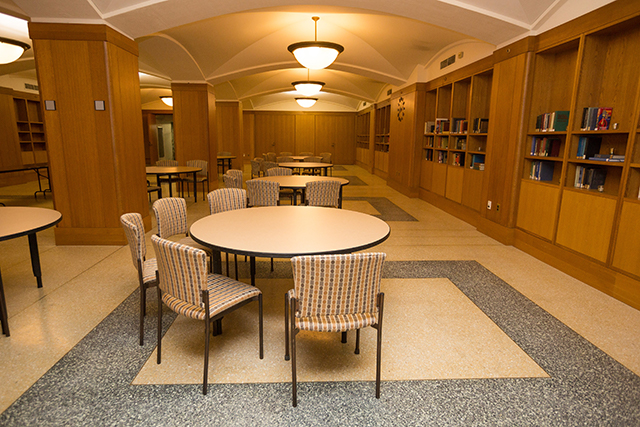 McKim Conference Room with a round table setup