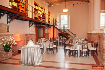 Photo of the Gustavino Room set up for an event
