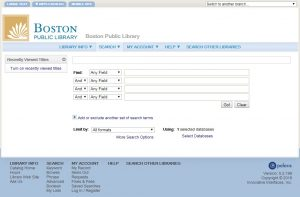 Image of research catalog search page