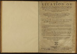The Barlow/BPL copy of Mourt's Relation, lot no. 1725 (G.354.52). Click here to view digitized copy.