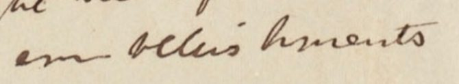 """the word """"embellishments"""" in old documents"""