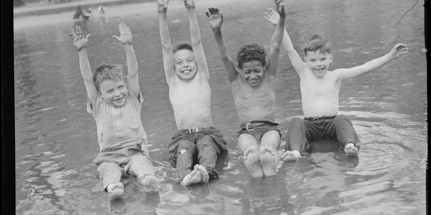 Boys in Frog Pond, Boston Common [ca. 1934–1956]