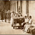 Boston Public Library, Copley Square. Courtyard. Summer reading in 1923