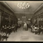 Photo of the Children's room in use at the Boston Public Library at 700 Boylston Street