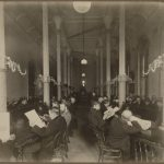 Photo of the Reading Room at the Boston Public Library at 55 Boylston Street