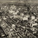 Ariel photo of copley square and the Boston public library from 1928