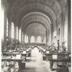 Photo of Bates hall taken in 1896