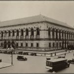 Photo of the exterior of the Boston Public Library in 1928