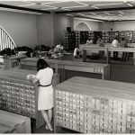 Photo of the BPL - General Library - catalog area in the Johnson Building