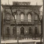 Photo of the Boston Public Library from the front at 55 Boylston Street