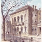 Color Print of the Exterior of the Boston Public Library at 55 Boylston Street