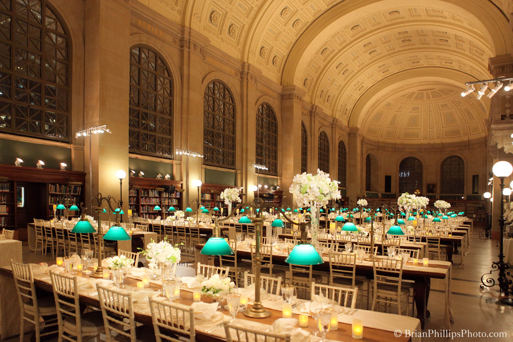 Boston Public Library Wedding.Photos Of Bates Hall Boston Public Library