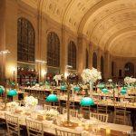 Wedding Dinner Setup at Boston Public Library.