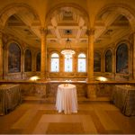 Photo of the Puvis de Chavannes Gallery set up for a private event