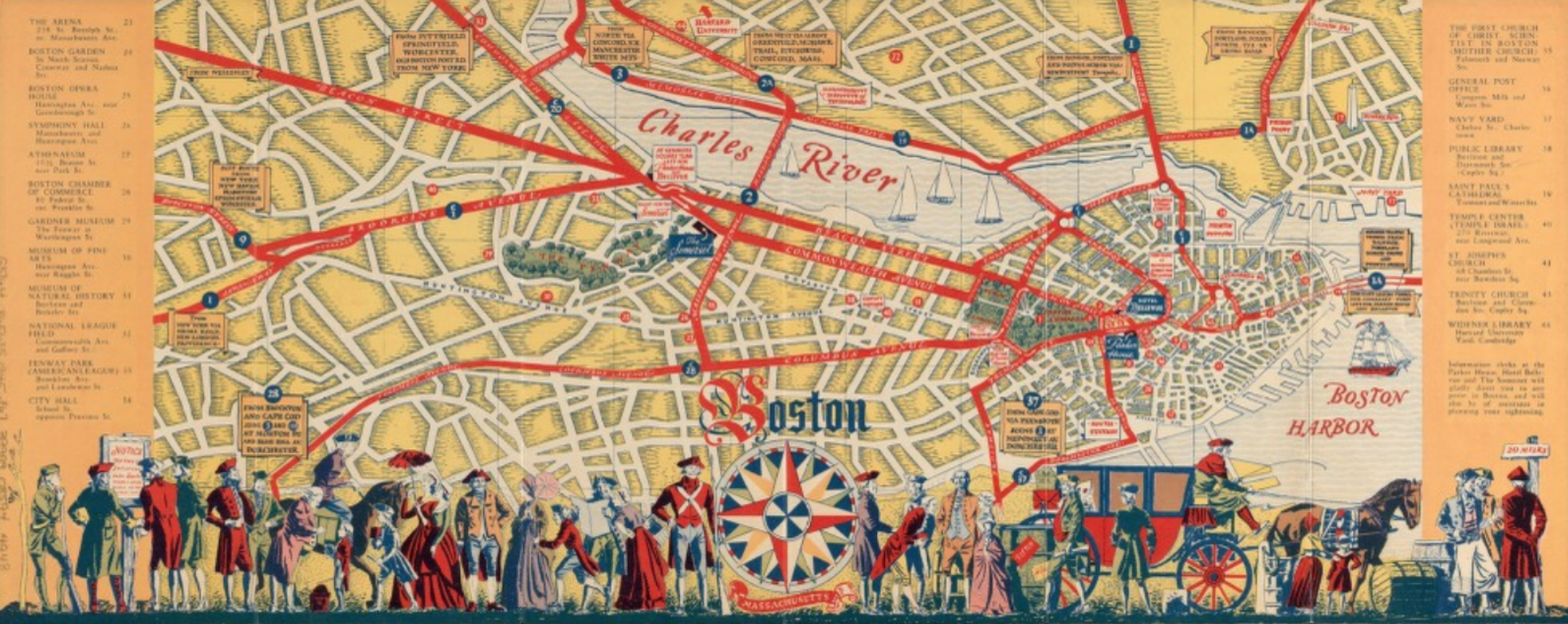 Tourist Map of Boston