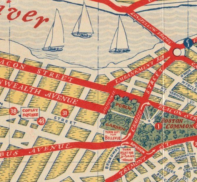 Boston Tourist Map