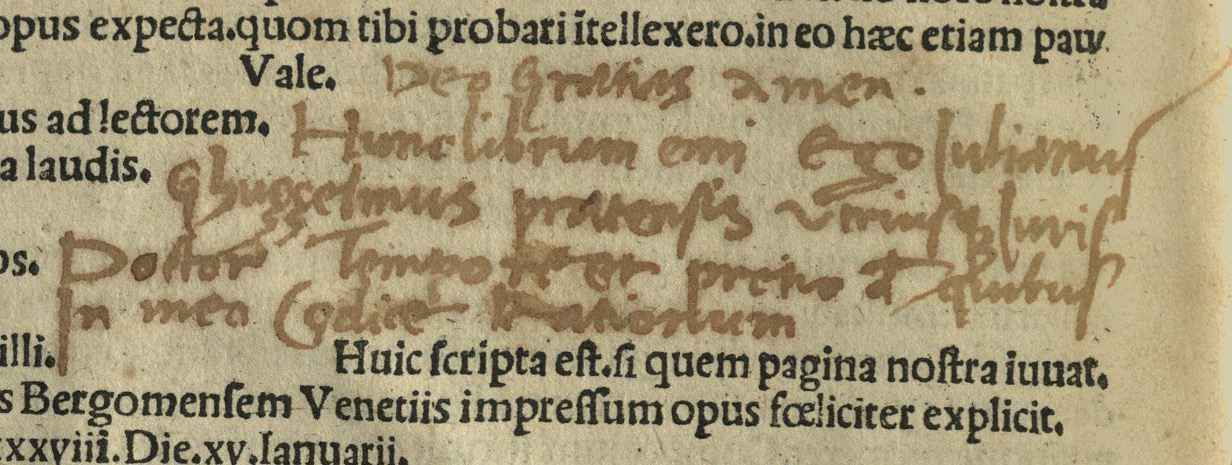 (Above) In the first of the three notes, Guizzelmi's purchase inscription