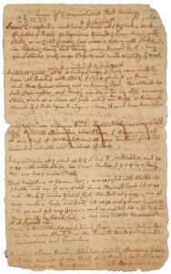 """""""Evidence of commotions that evening"""": the first page of John Adams' Massacre trial notes. BPL MS Adams 307"""