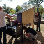 MSU and Teen Volunteers Painting the Empathy & Equity Box