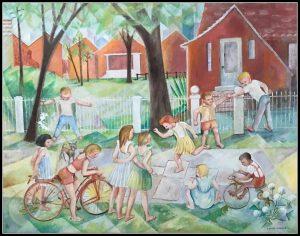 Hopscotch by Irene Gayas Jungwirth