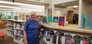 Library patron Martha C., winner of the Book Page year long prize.