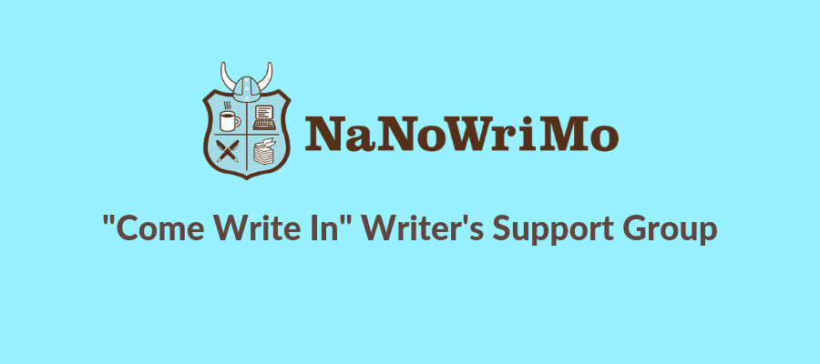 NaNoWriNo or National Novel Writing Month, Writer's Support Group at the library