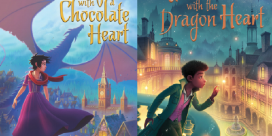 The Dragon With a Chocolate Heart, The Girl With a Dragon Heart by Stephanie Burgis
