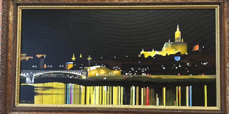 Oil painting titled Danube Reflections by Bill McCracken
