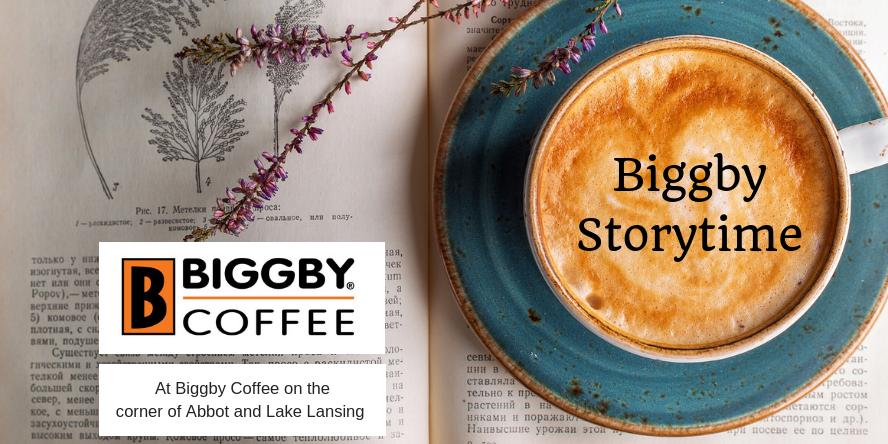 Storytime at the Lake Lansing Biggby coffee shop