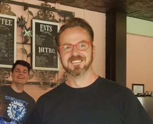 Nick Berry owner of Blue Owl Coffee
