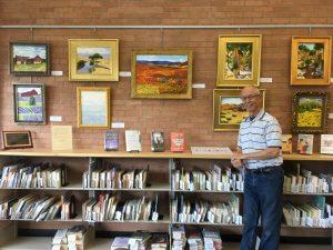 Fritz Benson October 2019 artist in the Brick Wall Gallery