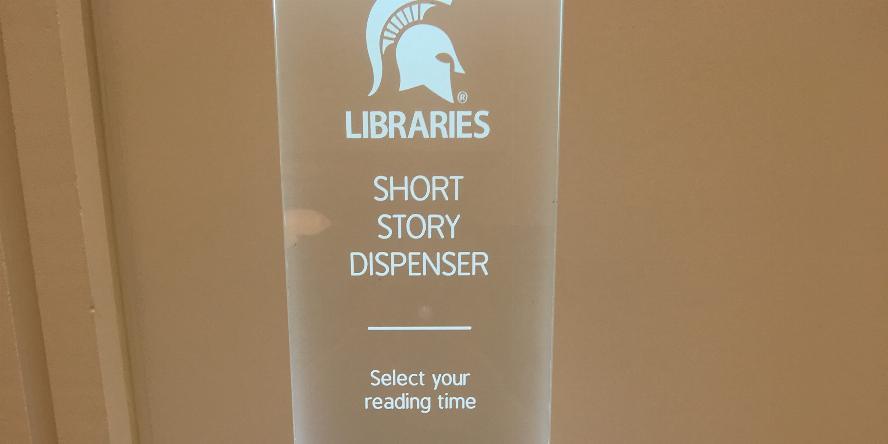 Short Edition machine. Prints short stories. Installed by MSU.