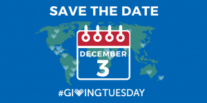 GivingTuesday December 3. Save the date.