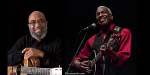 Musicians Reggie Harris and Josh White Jr.