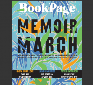 Screenshot of the cover of the March 2020 edition of BookPage magazine.
